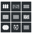Collection of fences from different materials vector image vector image