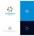 colorful geometry logo design vector image