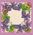 colorful silk scarf with flowering poppy vector image vector image
