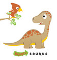 cute dinosaurs cartoon on white background vector image