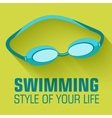 Flat sport swimming background concept desi vector image