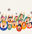 football fans cute colorful seamless vector image