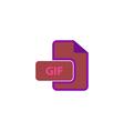 GIF Icon vector image vector image