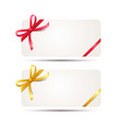 gift card with red and golden ribbon vector image