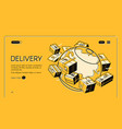 global postal mail delivery halftone line vector image
