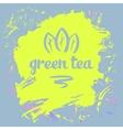 Green tea logo vector image vector image