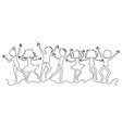 group of teenagers in a jump vector image vector image