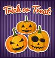 halloween festive autumn template vector image vector image