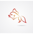 Hand drawn goldfish isolated on white background vector image vector image