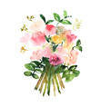 hand drawn watercolor bouquet design for card vector image vector image