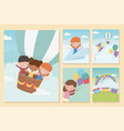 happy children day girls and boys funny vector image vector image