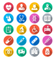 Healthcare flat color icons vector image vector image