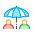 human umbrella icon outline vector image vector image