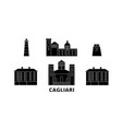 italy cagliari flat travel skyline set italy vector image vector image