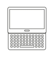 laptop computer isolated icon design vector image vector image