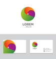 Logo icon design elements business card template vector image vector image