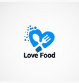love food logo designs concept icon element and vector image