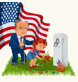 memorial day adult man with children in military vector image