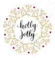 merry christmas calligraphy lettering holly jolly vector image vector image