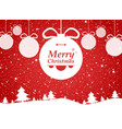 merry christmas of red background in forest and vector image