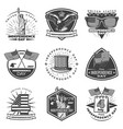 monochrome vintage independence day labels set vector image vector image