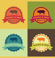 natural fresh pork food set vector image vector image