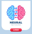 neural networks human brain logo icon chip or vector image vector image