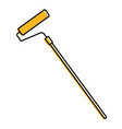 paint roller isolated icon vector image vector image