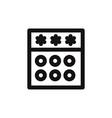 password icon vector image vector image