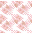 pattern with pencil stroke and a roses vector image vector image