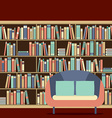 Reading Seat In Front Of A Bookcase vector image vector image