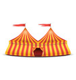 realistic circus tent red and yellow vector image