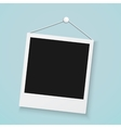 Realistic Photo Frame on a Wall with Office Button vector image