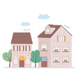 residential houses neighborhood property roof vector image
