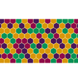 Retro hexagonal geometric background vector image vector image