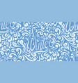 seamless calligraphic pattern with lettering vector image vector image