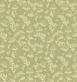 Seamless pattern of ash and twigs with leaves vector image