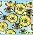 seamless pattern with fantastic transvaal daisy vector image vector image