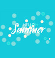 summer blured handwritten lettering bnner vector image