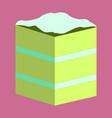 sweet dessert in flat design piece of cake vector image vector image