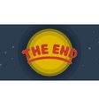 The End Background vector image vector image