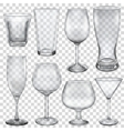 Transparent empty glasses vector image vector image