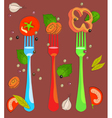 vagetables background vector image vector image