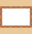 vintage frame scottish border pattern retro vector image vector image