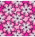 Vintage pink seamless pattern vector image
