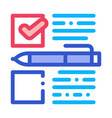 voting selection icon outline vector image