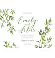wedding floral invite save date rustic design vector image vector image