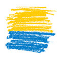 yellow and blue pencil texture for background vector image