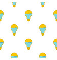 yellow light bulb with blue water inside pattern vector image vector image