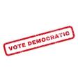 Vote Democratic Rubber Stamp vector image